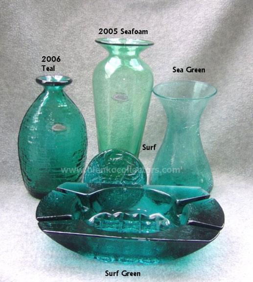 Blenko Color Comparisons Greens